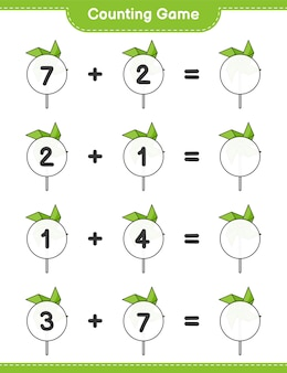 Counting game count the number of pinwheels and write the result educational children game