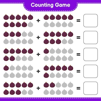 Считая игру, подсчитайте количество фиг и запишите результат.