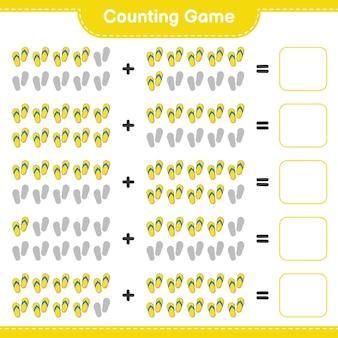 Подсчет игры подсчитайте количество флип-флоп и напишите результат развивающая детская игра