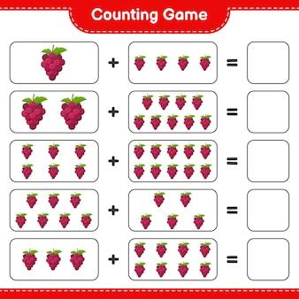 Подсчитайте игру, посчитайте количество виноград и запишите результат.