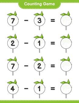 カウントゲームは風車の数を数え、結果を書きます教育的な子供たちのゲーム
