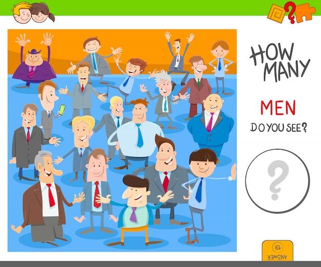 Подсчет игры для детей с персонажами мужчин