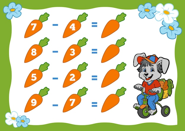미취학 아동을 위한 계산 게임 토끼와 당근 교육 수학 게임