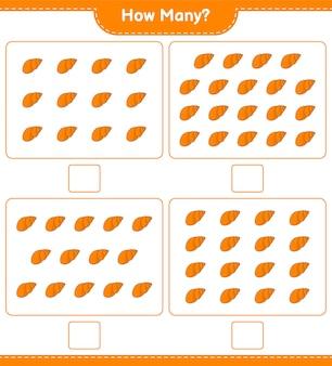 Подсчет игры, сколько ракушек. развивающая детская игра, лист для печати