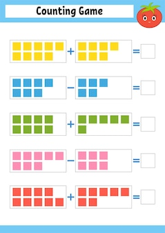 Counting game for preschoolers