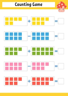 Counting game for preschoolers.