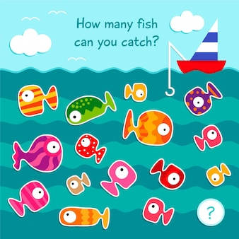 Counting game with fish in sea