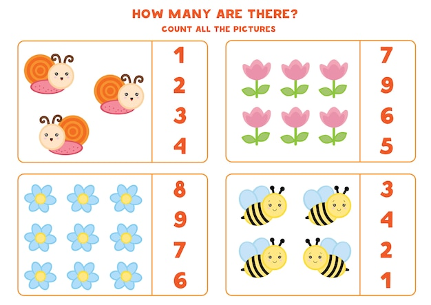 Counting insects and flowers