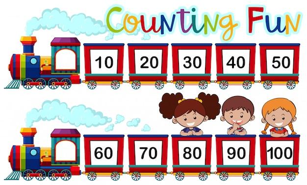 열차의 숫자 계산