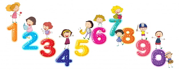 Подсчет чисел с маленькими детьми