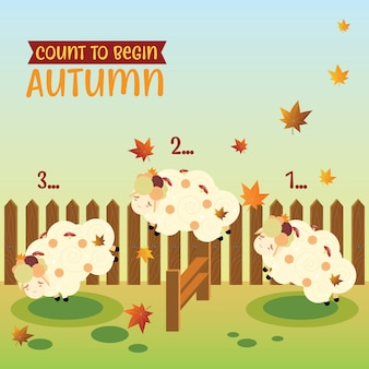 Counting sheep to begin the autumn