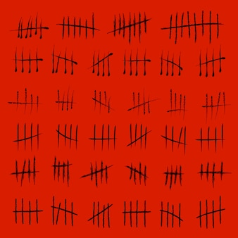 Counting waiting tally number marks.