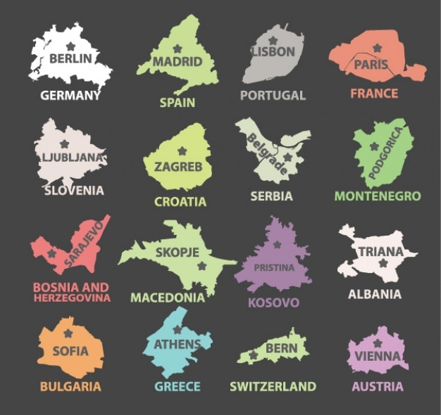 Страны и их столиц дизайн