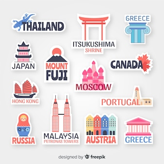 Countries sticker collection
