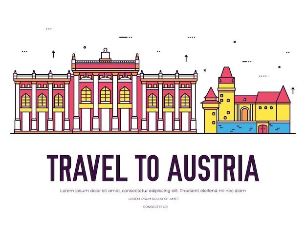 국가 오스트리아 여행 장소 및 기능 휴가