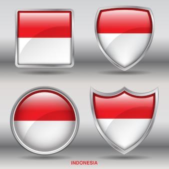 国ベベルフラグ4図形アイコン