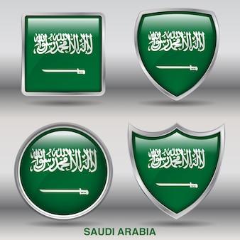 Флаг страны фаски 4 формы значок