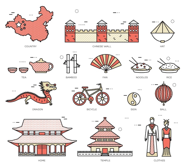 국가 중국 여행 상품의 휴가 가이드