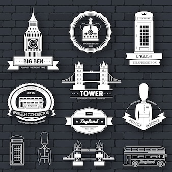 Country england label template of emblem element for your product or design