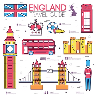 Country england travel vacation guide of goods