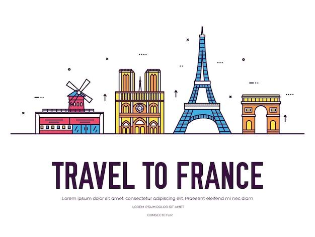 Иллюстрация путеводителя по стране франция