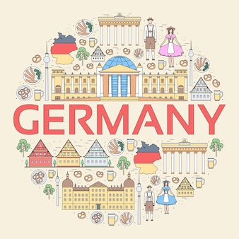 Country germany travel vacation guide of goods