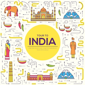 Country india travel vacation guide of goods