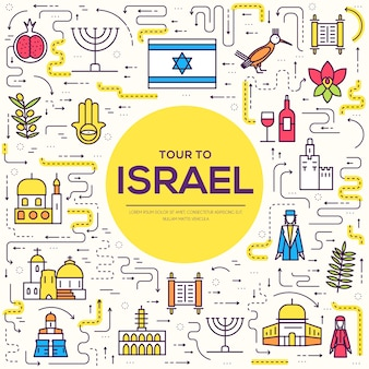 Country israel travel vacation guide of goods, place and feature