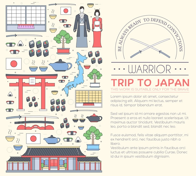 Country japan travel vacation guide of goods