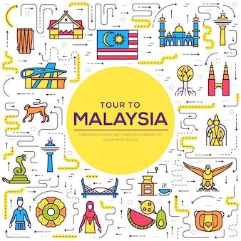 국가 말레이시아 여행 장소 및 기능 휴가