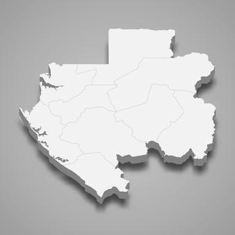 地域の境界線がある国の地図