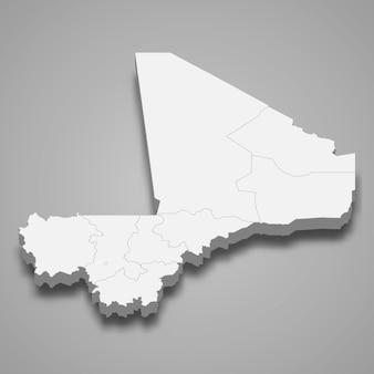 Карта страны с границами регионов
