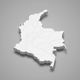 Карта страны с границами