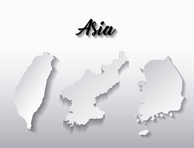 Country maps of asia continent