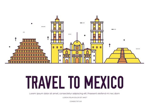 場所と機能のカントリーメキシコ旅行休暇