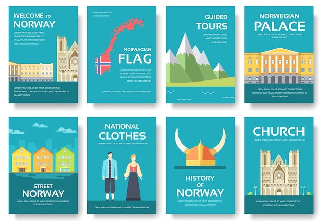 Country norway travel vacation guide of goods