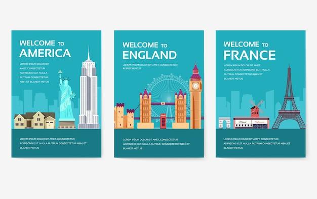 アメリカ、イギリス、中国、frnace、ロシア、タイ、日本、イタリアの国のカードセット。