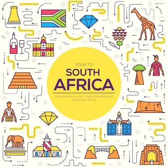 場所と機能の南アフリカ旅行休暇の国