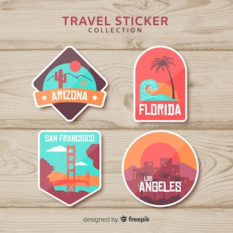 Country sticker collection