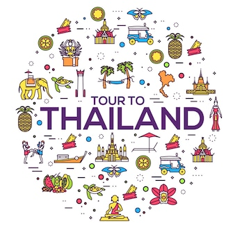 Country thailand travel vacation guide of goods