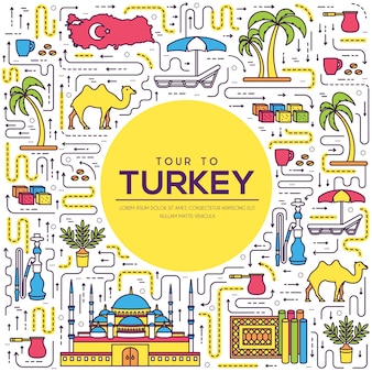 Country turkey travel vacation guide of goods
