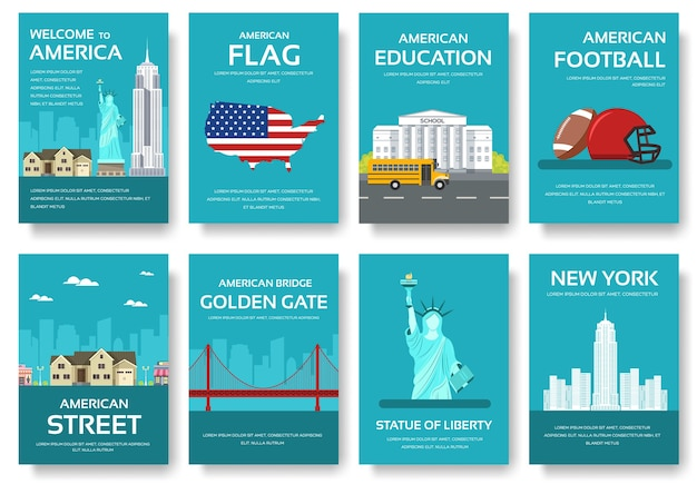 Country usa travel vacation guide of goods