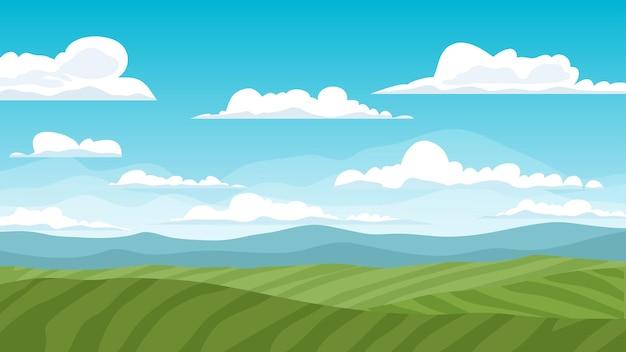 화창한 날에 시골 농장 풍경
