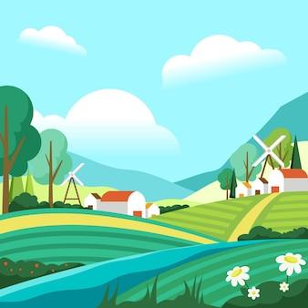 Countryside landscape concept
