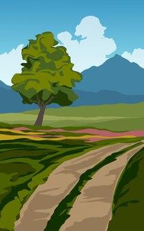 산 및도 시골 풍경