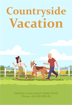 Countryside vacation poster template