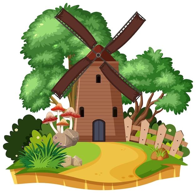 시골 풍차 집 절연