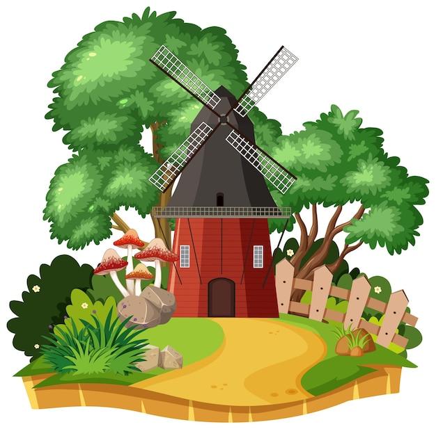 시골 풍차 집