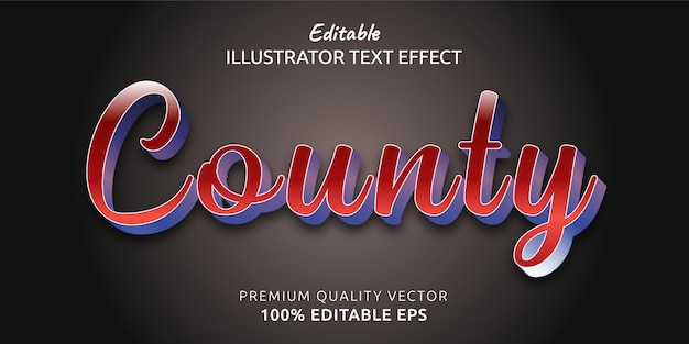 County editable text style effect