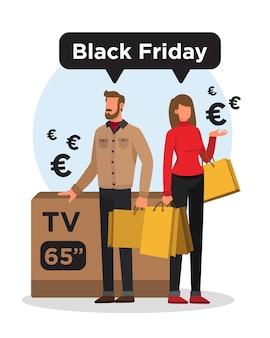 검은 금요일 동안 쇼핑 하루 후 몇